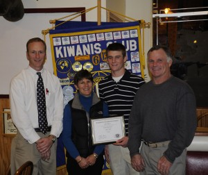 Luke Sharp, Colon Kiwanis Student of the 1st Marking Period